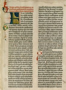 Gutenberg bible Old Testament Epistle of St Jerome 2