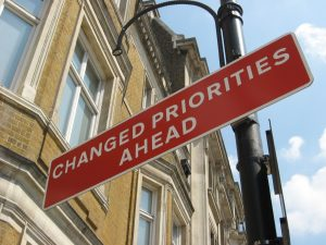 Changed Priorities - Flickr image by: R/DV/RS