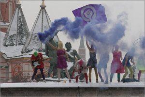 Pussy Riot at Lobnoye Mesto on Red Square in Moscow - Denis Bochkarev